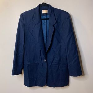Pendleton Women's Size 10 Navy Wool Blazer Button